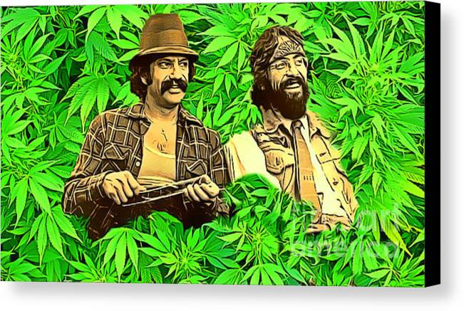 Cheech And Chong In The Garden Of Eden Canvas Print / Canvas Art by Pd