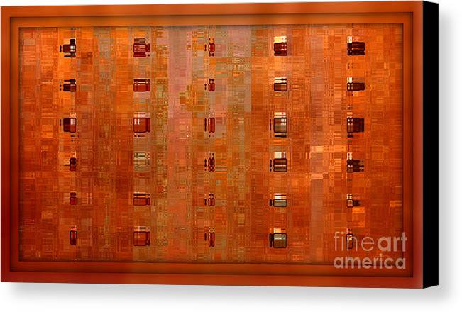 Digital Art Abstract Canvas Print featuring the digital art Copper Abstract by Carol Groenen