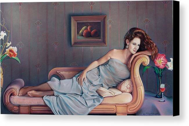 Chaise Canvas Print featuring the painting Daydream Believer by Patrick Anthony Pierson