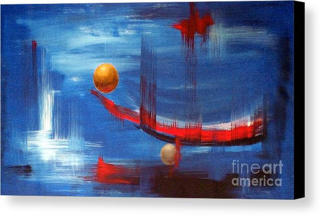 Abstract Art Canvas Print featuring the painting Dream Ship by Arturas Slapsys