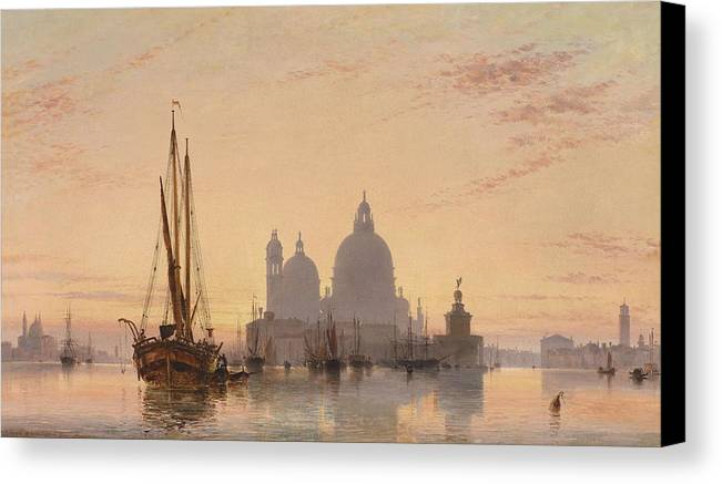 Nature Canvas Print featuring the painting Edward William Cooke Venezia 1851 by Edward William