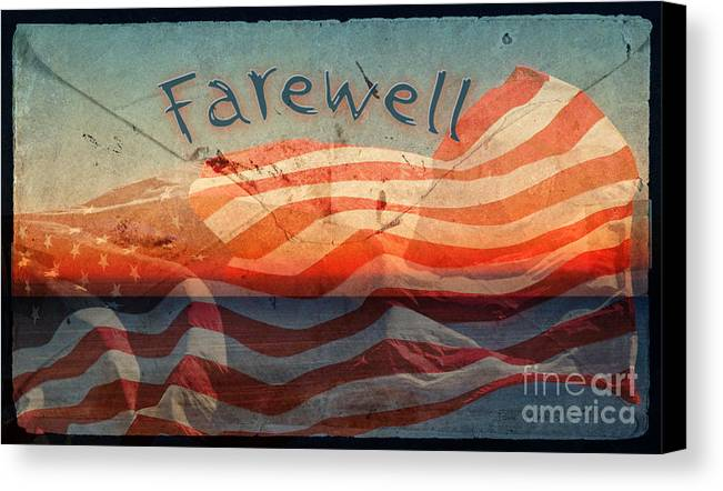 Farewell Canvas Print featuring the photograph Farewell by John Stephens