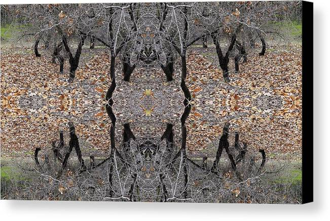 Forest Scary Canvas Print featuring the photograph Forest Scary by Viktor Savchenko