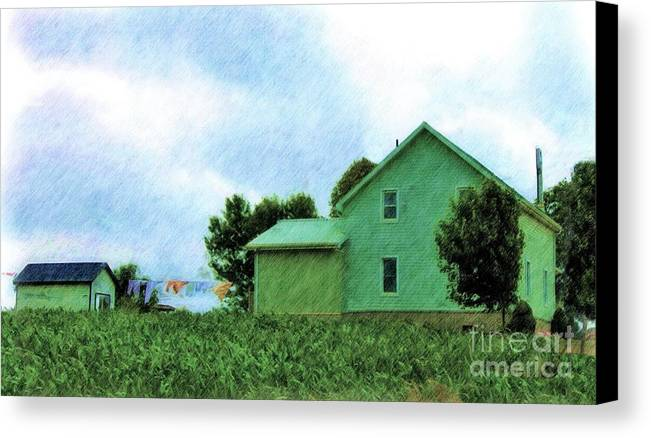 Artwork Canvas Print featuring the photograph Fresh Country Air by Anthony Djordjevic
