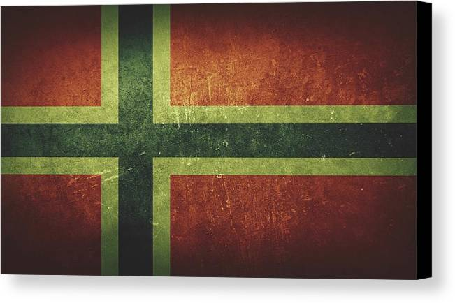 Norway Canvas Print featuring the painting Norway Distressed Flag Dehner by T Shirts R Us -