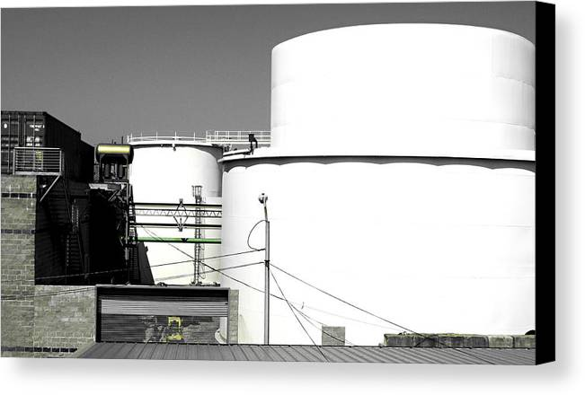 Greenpoint Canvas Print featuring the photograph One Green Pipe by JoAnn Lense
