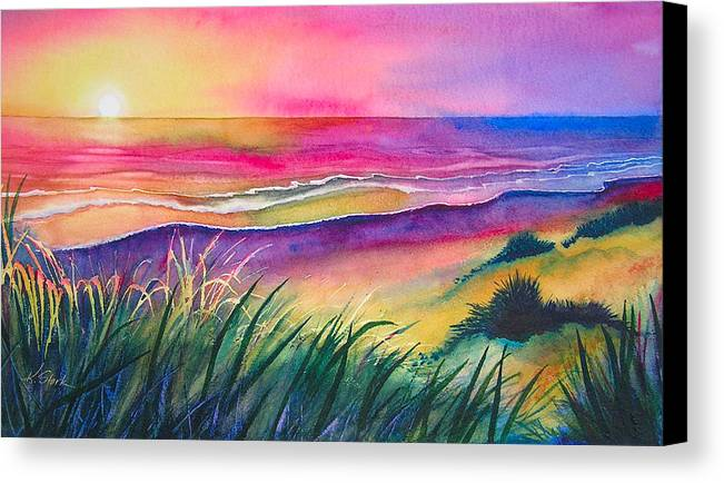 Pacific Canvas Print featuring the painting Pacific Evening by Karen Stark