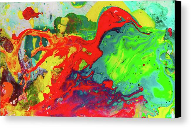 playful spring colorful happy abstract art painting canvas print