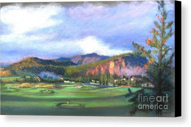 Landscape Canvas Print featuring the painting Point Of View by Shirley Leswick