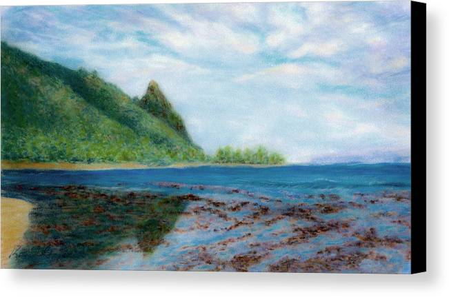 Rainbow Colors Pastel Canvas Print featuring the painting Reef Walk by Kenneth Grzesik