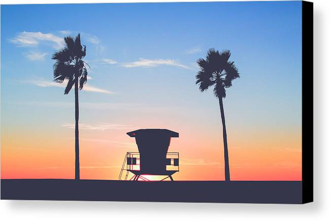 Island Canvas Print featuring the photograph Sunset In Paradise by David Cornelius