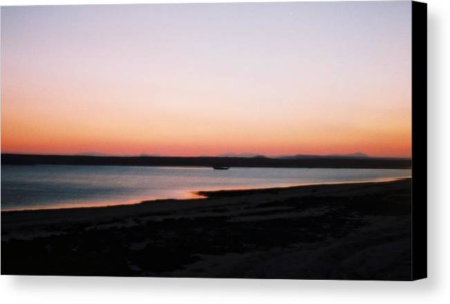 Sunset Canvas Print featuring the photograph Sunset Near Ras Al-hadd In Oman by Gosta Eger
