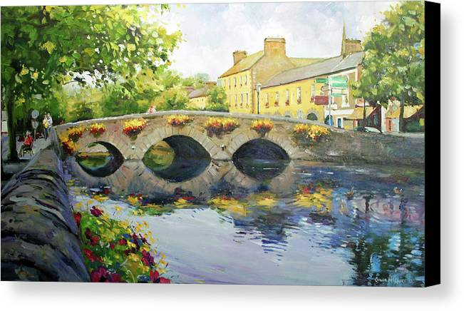 Westport County Mayo Canvas Print featuring the painting Westport Bridge County Mayo by Conor McGuire
