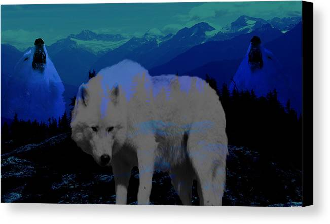 Wolves Canvas Print featuring the photograph White Wolves by Evelyn Patrick