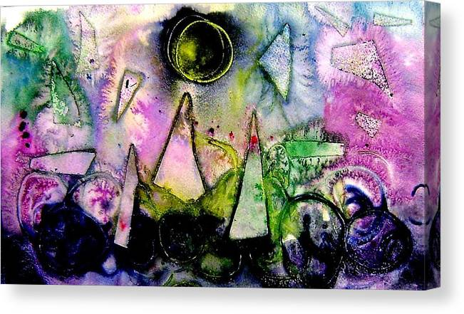 Abstract Landscape Canvas Print featuring the mixed media Abstract Landscape I by John Nolan