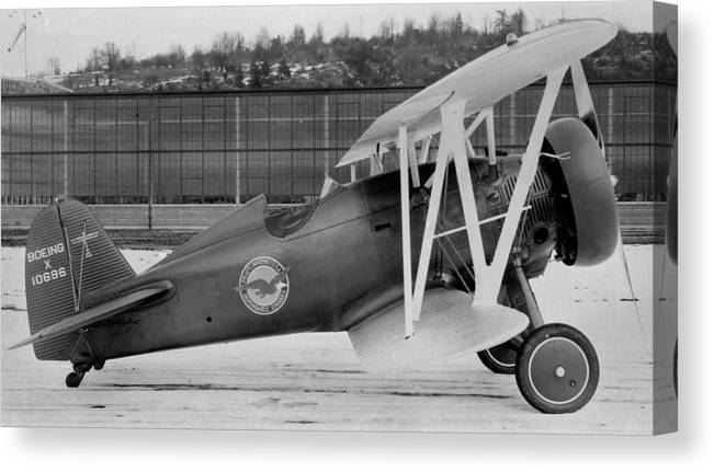 Boeing 100-f P-12 Prototype Canvas Print featuring the photograph Boeing 100-f P-12 Prototype by Hank Clark