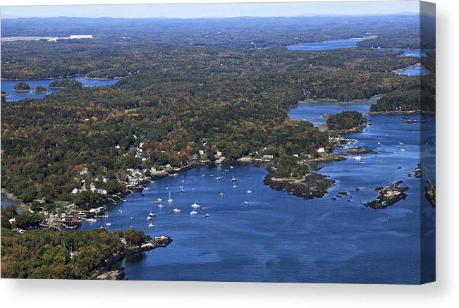 Dave Cleaveland Canvas Print featuring the photograph Cundis Harbor, Maine by Dave Cleaveland