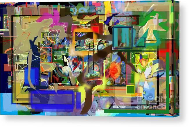 Torah Canvas Print featuring the digital art Daas 2 Zf by David Baruch Wolk