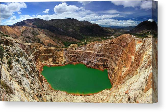 Mine Canvas Print featuring the photograph Mount Lyall Mine In Queenstown by Johnathan Ampersand Esper