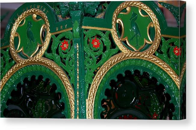 Fountain Canvas Print featuring the photograph Ornate Fountain Detail by John Bailey