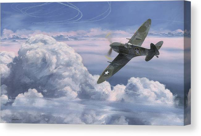 Spitfire Canvas Print featuring the painting The High Country by Wade Meyers
