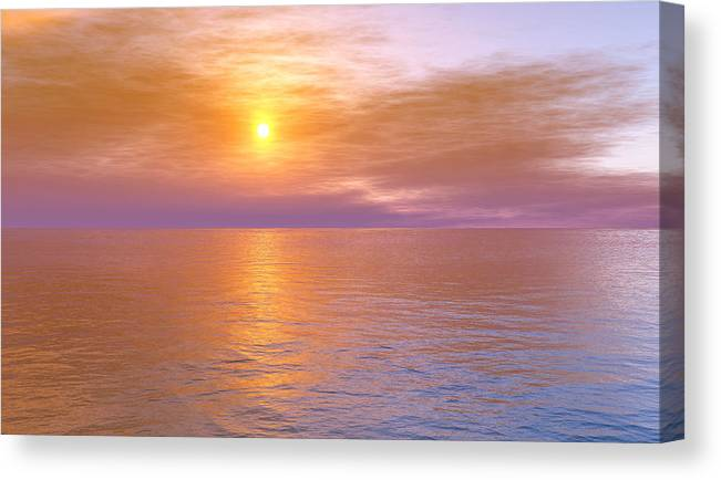 Ocean Canvas Print featuring the digital art Verona Beach by Mark Greenberg