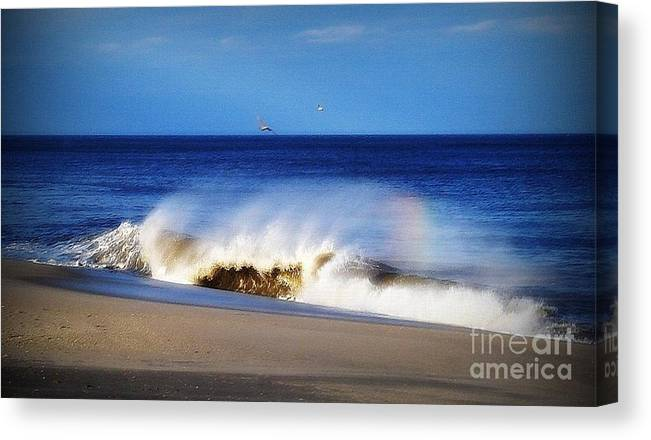 Photo Canvas Print featuring the photograph Rainbow Blue by Gladys Steele