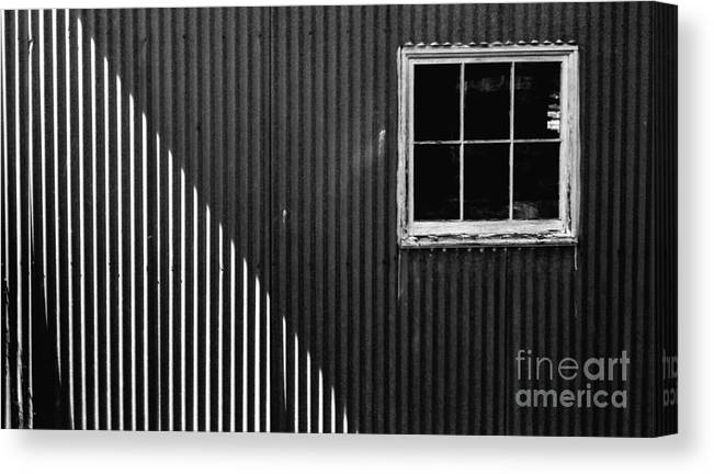 Art Canvas Print featuring the photograph Tin Light And Window by Ronnie Glover