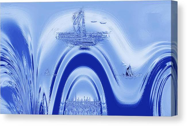 Atlantis Canvas Print featuring the digital art Above Atlantis. by Terence Davis