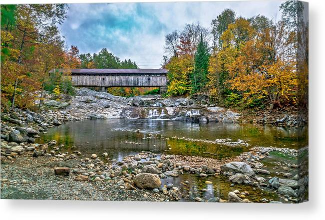Landscape Canvas Print featuring the photograph Autumn In The White Mountains by Ron Christie