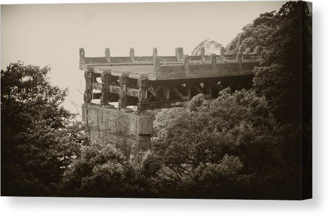 Structure Canvas Print featuring the photograph End Of Road by Amarildo Correa