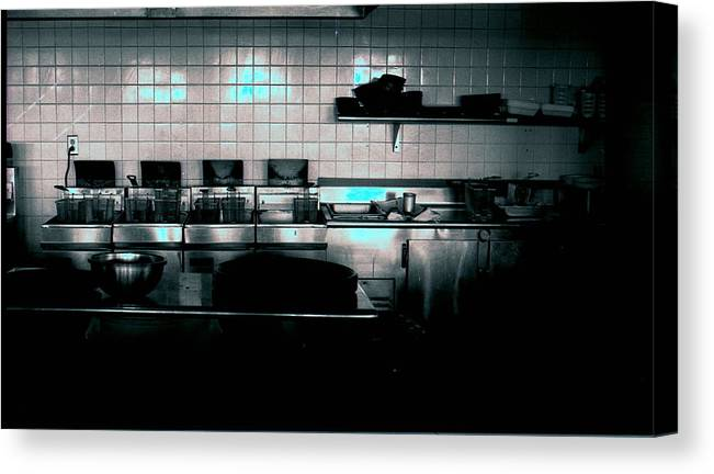 Interiors Canvas Print featuring the photograph Kitchen by Michael Morrison