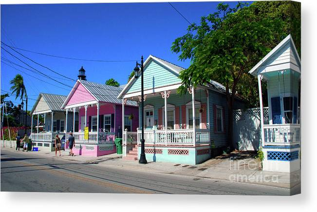 Key West Canvas Print featuring the photograph Pastels Of Key West by Susanne Van Hulst
