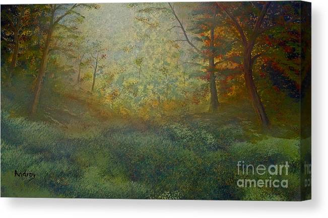 Trees Canvas Print featuring the painting Tranquility by Todd Androy