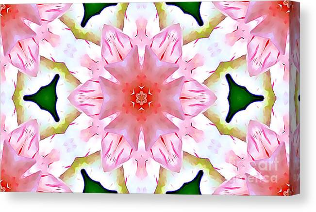 Pink Canvas Print featuring the mixed media Pink Floral Pattern by Tracy Ruckman