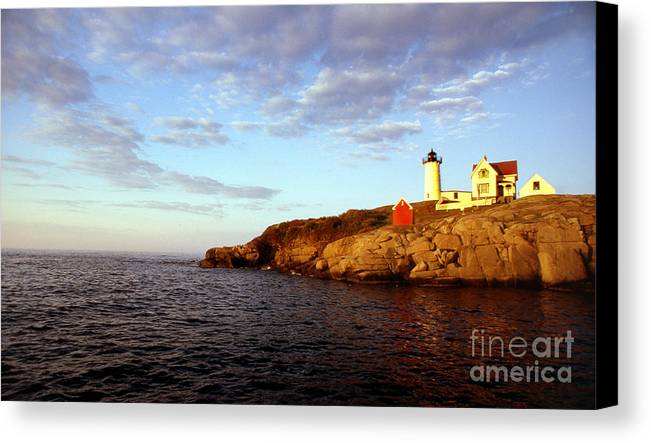 Lighthouses Canvas Print featuring the photograph Nubble Light by Skip Willits