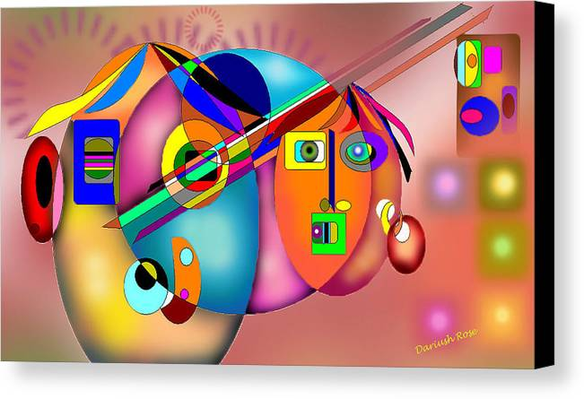 Canvas Print featuring the digital art Thanksgiving Day by Dariush Rose