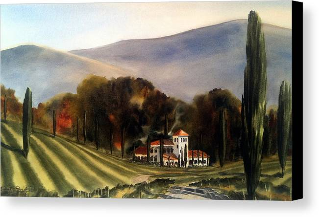 Canvas Print featuring the painting Vintage Year by Don F Bradford