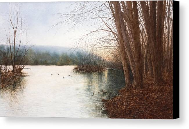 Nature Canvas Print featuring the painting Essence by Steven J White PWS
