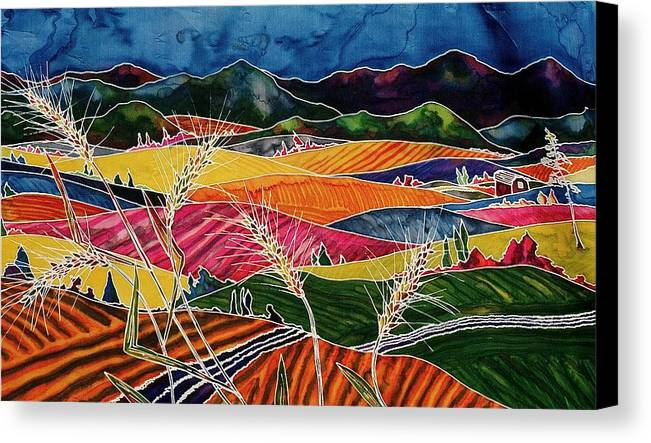 Fields Canvas Print featuring the tapestry - textile Palouse Fields by Carolyn Doe