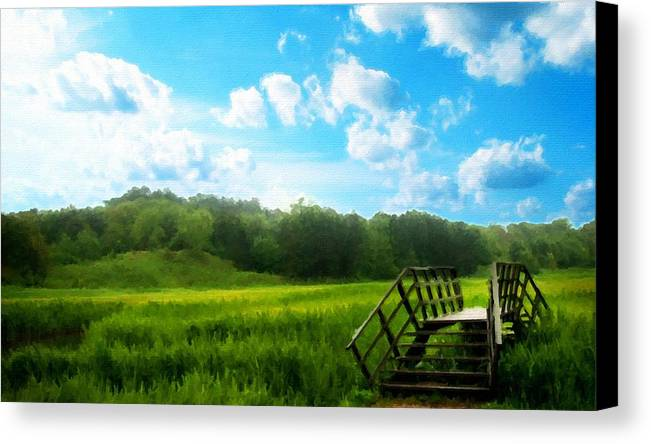 J Canvas Print featuring the digital art Landscape Pics by Usa Map