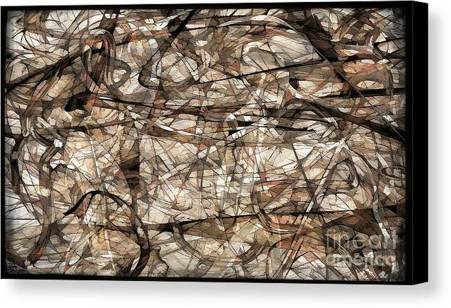 Abstraction Canvas Print featuring the digital art Abstraction 2339 by Marek Lutek