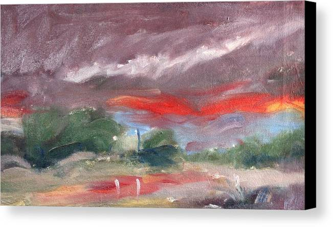 Owen Hunt Canvas Print featuring the painting Down By The River by Owen Hunt