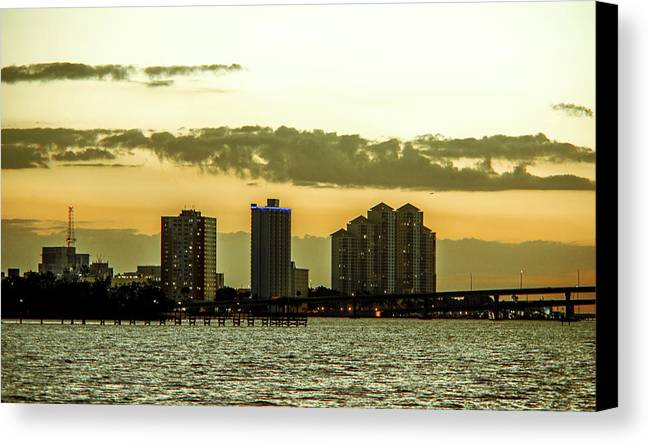 Downtown Canvas Print featuring the photograph Fort Myers Skyline by Michael Frizzell