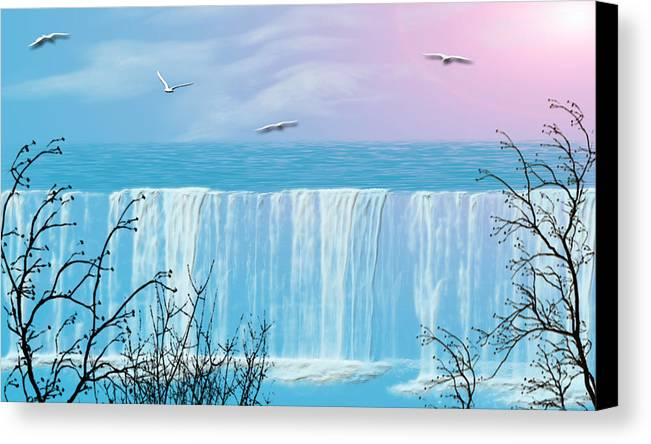 Waterfall Canvas Print featuring the photograph Free Falling by Evelyn Patrick