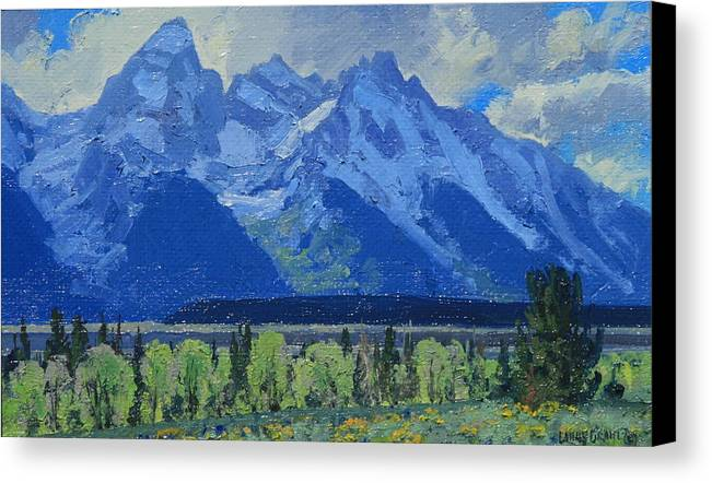 Landscape Canvas Print featuring the painting Glacier Gulch by Lanny Grant