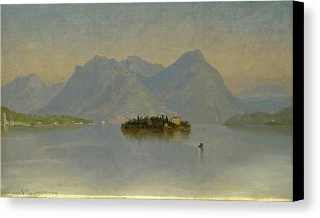 John Ferguson Weir Canvas Print featuring the painting Lago Maggiore. Italy by John Ferguson Weir