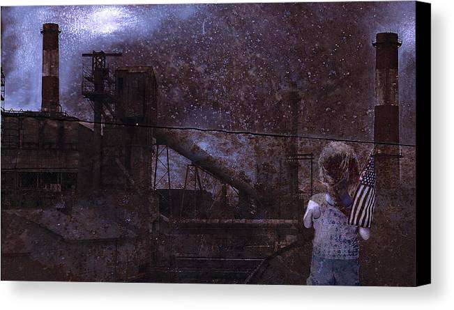 Urban Canvas Print featuring the photograph Legacy For A Child by Jeff Burgess