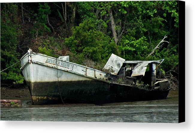 Boat Canvas Print featuring the photograph Out Of Commission by Patrick Moore