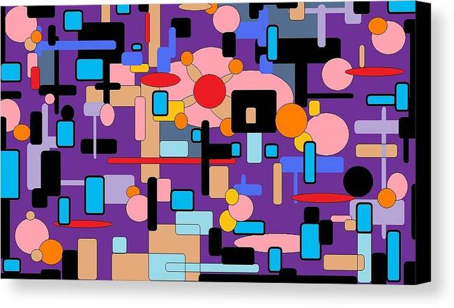 Abstract Digital Canvas Print featuring the digital art Purple Passion by Jordana Sands